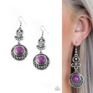 Purple Stone Earrings